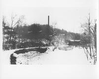 Ice jam in Brandywine Creek at Henry Clay Mill