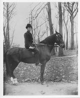 Eugene du Pont's son on horseback in Birmingham Park, Pennsylvania