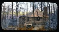 The Cabin, bird lodge in woods, at The Patch, home of Mr. and Mrs. W.C. Spruance