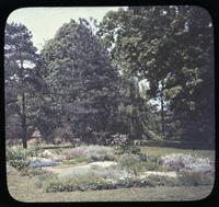 Rock garden of Mrs. John B. Bird on lawn at Pendelmar