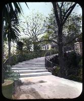Stairway leading to second terrace at Gibraltar, estate of H. Rodney Sharp