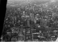 Aerial view of Center City with PSFS Building looking west