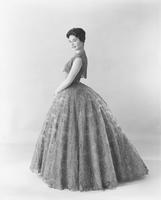 Nancy Anne Fleming, Miss America 1961, in pageant gown created by Alfred Bosand of Ban-Lon lace