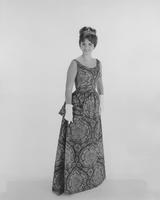 Vonda Van Dyke, Miss America 1965, in dress from McCalls Pattern 7677 in Everfast Everglaze fabric