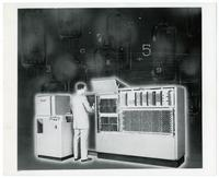 UNIVAC 60/120 system with model - graphic design