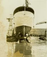 Launching of Savarona hull #398
