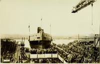 Launching of John Cadwalader hull #394
