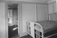 Interior of bedroom showing connecting room with bath on the passenger steamer, S.S. District of Columbia