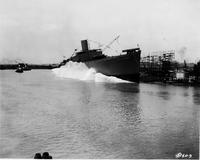 Sideways launching of Cape Mohican #1085