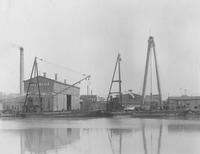 Pennsylvania Railroad Barge, hull #351, under construction