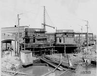 P.R.R. Barges during building