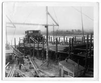 P.R.R. Barge, hull #351 during building