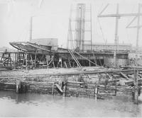 Unidentified dredge during construction