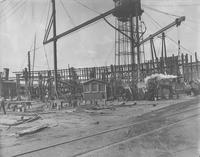 Steel steam yacht, Lydonia II, under construction