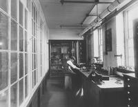 Mr. Taylor at work in Pusey and Jones Company Testing Room (Laboratory)