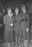 Red Cross Nurses doing broadcast at Pusey and Jones Corporation for Red Cross War Fund Drive