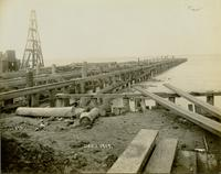 Construction of south pier at Gloucester, N.J. shipyard