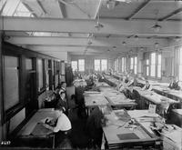 Drafting room at Gloucester, N.J. shipyard