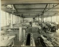 Carpentry shop interior at Gloucester, N.J. shipyard