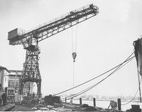 50-ton stationary crane at Pusey and Jones Corporation shipyard