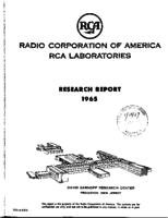 Annual Report, RCA Laboratories Research Department [1965]