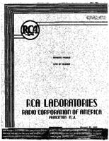 Annual Report, RCA Laboratories Research Department [1945]