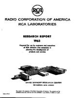 Annual Report, RCA Laboratories Research Department [1963]