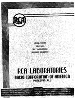 Annual Report, RCA Laboratories Research Department [1944]