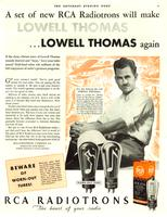 A Set of New RCA Radiotrons Will Make Lowell Thomas...Lowell Thomas Again
