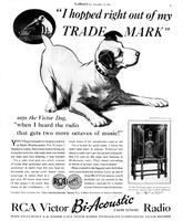 I Hopped Right Out of My Trade Mark Says the Victor Dog 'When I Heard the Radio that Gets Two More Octaves of Music!'