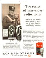 The Secret of Marvelous Radio Tone? Insist on the Radio Tubes Used by Over 200 of the Leading Broadcasting Stations