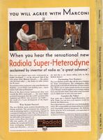 You Will Agree with Marconi When You Hear the Sensational New Radiola Super-Heterodyne