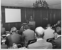 William G. McGowan speaking at 1970 conference for MCI regional carrier executives
