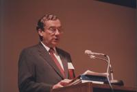 William G. McGowan speaking at Dataquest Telecommunications Industry Conference
