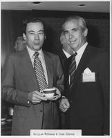 William G. McGowan and John Zeeman at 1970 conference for MCI regional carrier executives