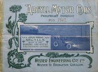 Preliminary Catalogue, 1905 : Argyll Motor Cars and Motor Delivery Vans
