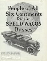 People of All Six Continents Ride in Speed Wagon Busses