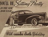 You'll be sitting pretty in the new 1940 Nash
