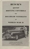 Buick 's Special Driving Controls for Disabled Veterans of World War II