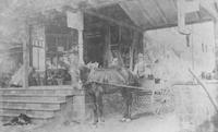 Horse and cart outside of Henry (Harry) Gallagher's general store (Chadds Ford, Pa.)