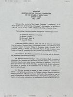 Finance Committee minutes [May 5, 1997]