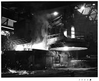 Electric furnaces scrap charging, Republic Steel Corporation (Cleveland, Ohio)