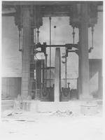 Twin cylinder vertical steam engine, Isabella Furnace (Wyebrooke, Pa.)