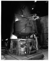 Electric furnaces scrap charging, Laclede Steel Company (Alton, Ill.)