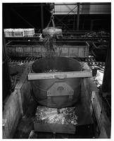 Filling scrap charging bucket, Laclede Steel Company (Alton, Ill.)