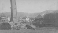 Damage to Joseph Bancroft & Sons Co. mill buildings caused by 1888 hurricane
