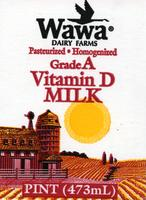 Packaging flat for Wawa Dairy Farms Pasteurized Homogenized Grade A Vitamin D Milk