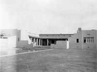 Charles Augustus Belin's house and swimming pool in Tucson, Ariz.