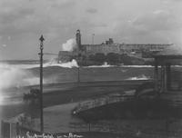 The Morro Castle in a storm