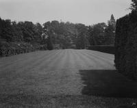 Lawn between formal garden at Longwood